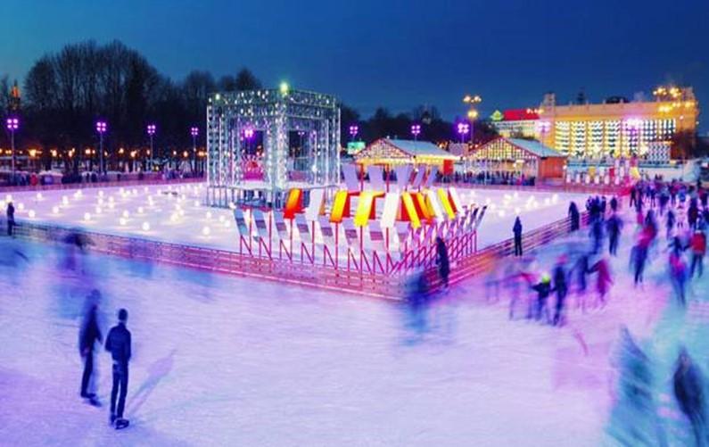 Каток в Сокольниках в 2022 году